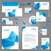 Blue stationery template design — Stock Vector