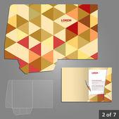 Folder template design for company — Stock Vector