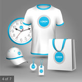Promotional souvenirs design for company — Vector de stock