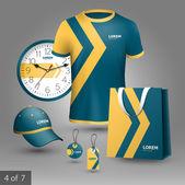 Promotional souvenirs design for company — Stockvector