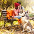 Beautiful autumn day in the park — Stock Photo