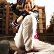 Girl and skate — Stock Photo #37056221