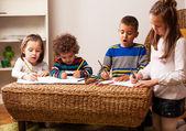 Mixed race kids — Stock Photo