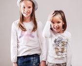 Caucasian sisters — Stock Photo