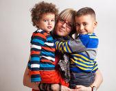 Mixed race family — Stock Photo