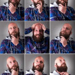 Real Man with beard — Stock Photo