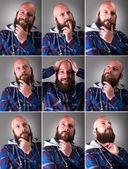 Real Man with beard — Stock Photo