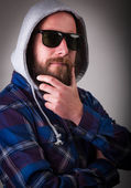 Dutchman with beard and sunglasses — Stock Photo