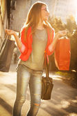 Teenage girl like shopping — Stock Photo
