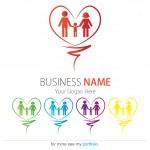 Company (Business) Logo Design, Vector, Heart, Family, Hands — Stock Vector #12652515