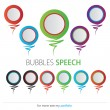 Bubble speech — Vettoriali Stock