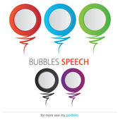 Bubble speech — Stock Vector