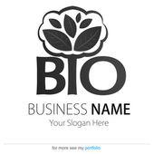 ビジネス (会社) のロゴ、バイオ、エコ、ベクトル、手、地球、葉 — ストックベクタ