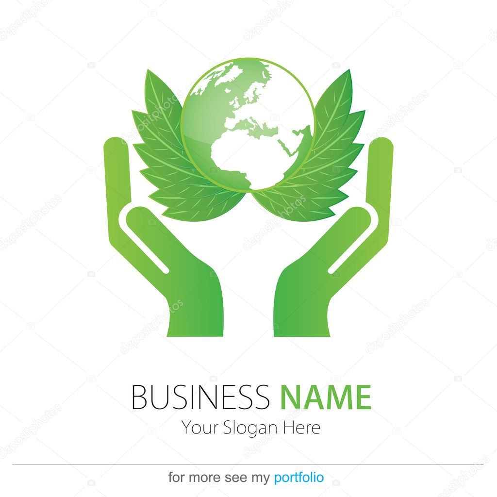 Business (Company) Logo,Bio,Eco,Vector,Leaf,Earth,Hands ...