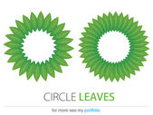 Business (Company) Logo,Bio,Eco,Vector,Leaf,Circle leaves — Stock Vector