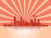 Big City (Town),Vector,Background,Business — Stockvektor