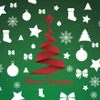 Merry Christmas background,vector — Stock Vector