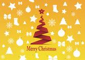 Merry christmas background, vector — Vecteur