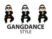 Gangdance style,vector — Stock Vector