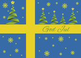Merry Christmas background,vector,God Jul,Sweden — Stock Vector