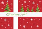Merry Christmas background,vector,Glaedeling Jul,Denmark — Stock Vector