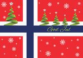 Merry Christmas background,vector,God Jul,Norway — Stock Vector