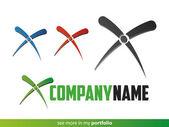 Company Logo X Design,Vector — Stock Vector