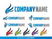 Company Logo Flame Design,Vector — Stock Vector