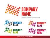 Company Logo Square-Triangle Design,Vector — Stock Vector