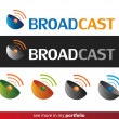 Company Logo Design,Broadcast,Wifi,Signal - Vettoriali Stock 