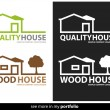 Company Logo House Design,Vector — Stock Vector
