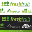 Company Logo Fresh Fruit Design — Stock Vector