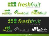 Company Logo Fresh Fruit Design — Stock Vector