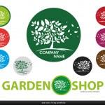 Company Design Logo - garden,tree,vector — Stock Vector