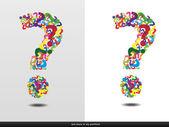 Question Mark - Color — Stock Vector