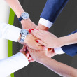 Teamwork,holding hands,handshake,business background — Stock Photo #31990993
