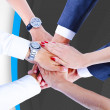 Teamwork,holding hands,handshake,business background — Stock Photo #31991047