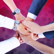Teamwork,holding hands,handshake,business background — Stock Photo #31992643