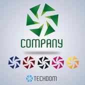 Company logo design, wind wheel — Stock Vector