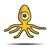Cartoon octopus, monster — Stock Vector