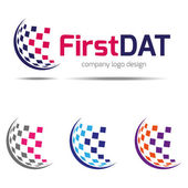 Company logo design, corporate identity — Stock Vector