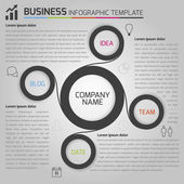Business light infographic template with circles — Vetorial Stock