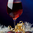 Christmas red wine — Stock Photo