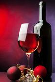 Christmas red wine — Stock Photo