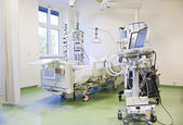 Iintensive care unit with monitors — Stock Photo