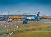 Israir Israel Airlines in Berlin Schonefeld Airport — Stock Photo