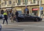 Maserati car crash in Barcelona — Stock Photo