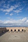 Montjuic Castle-Fortress in Barcelona, Spain — Stock Photo