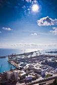 Barcelona harbor, cargo zone — Stock Photo