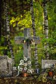 Kamienny krzyż — Zdjęcie stockowe